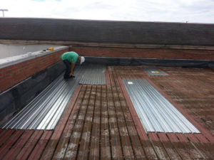 metal roof with repairs