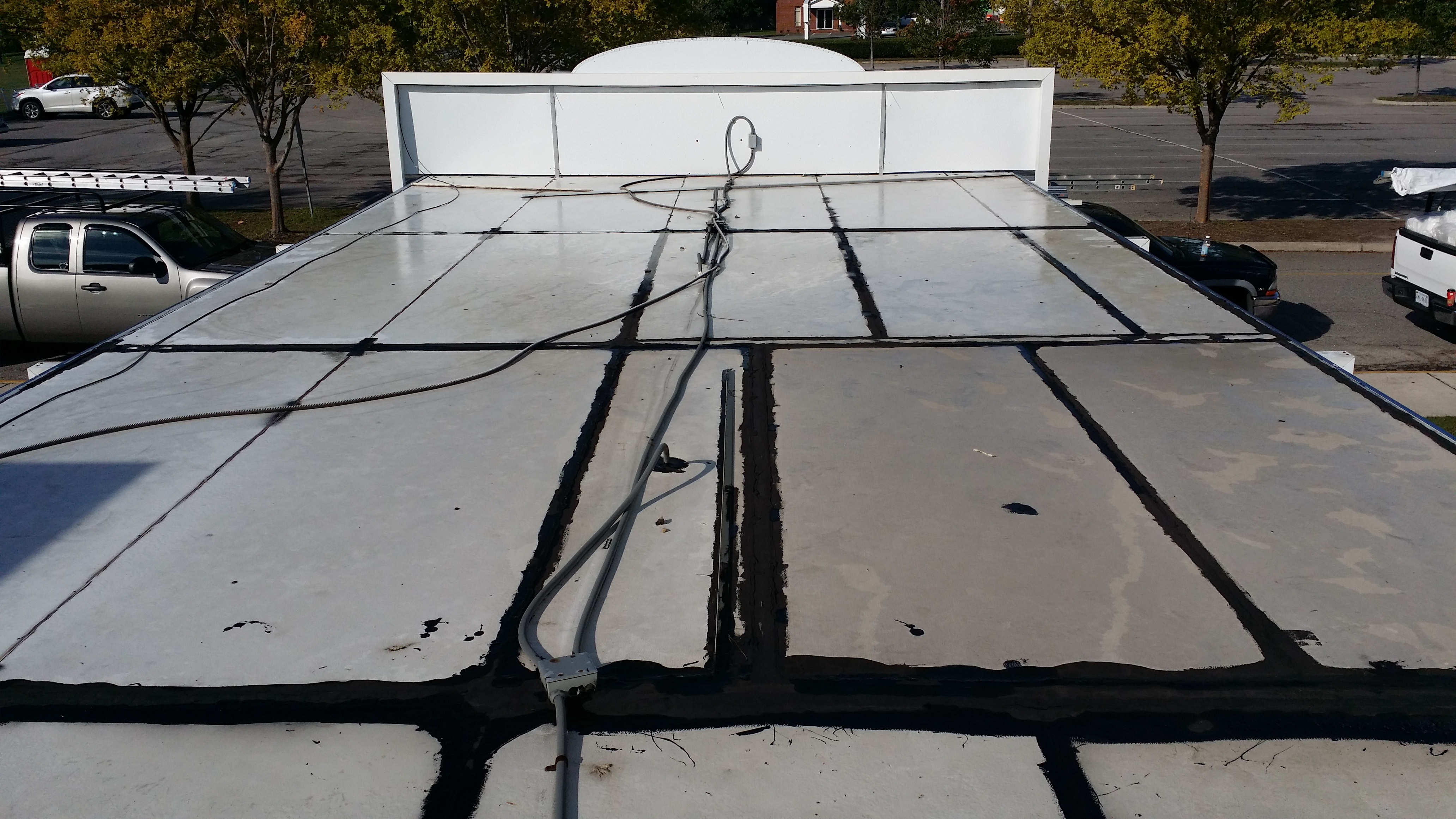 New Tpo Flat Roof Installed In Virginia Beach