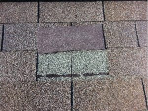 Sometimes, high winds can blow up a single shingle tab, causing a leak.