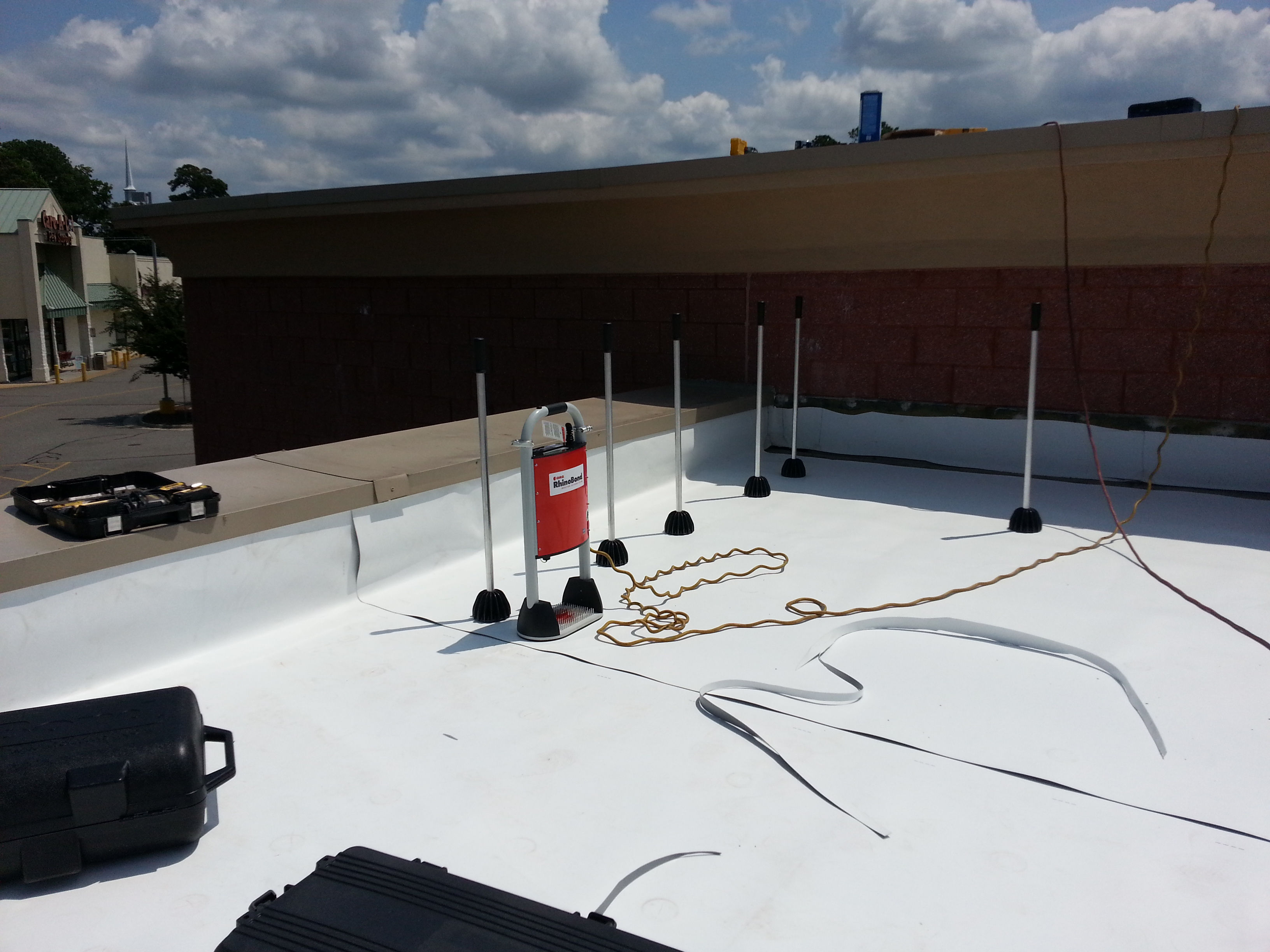 Rhinobond Roof System Tpo And Pvc Roofs